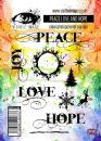 Visible Image Clear Stamp Set - Peace Love and Hope